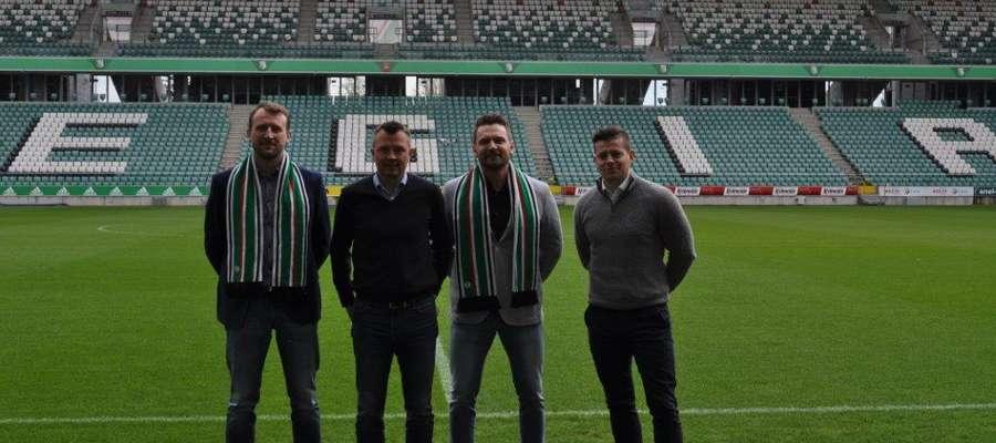 Od lewej: Karol Chilmanowicz (skarbnik Legii-Bart), Adam Orlikowski (dyrektor Legia Soccer Schools), Marek Girulski (prezes Legii-Bart), Marcin Harasimowicz (menadżer ds. operacyjnych Legia Soccer Schools)