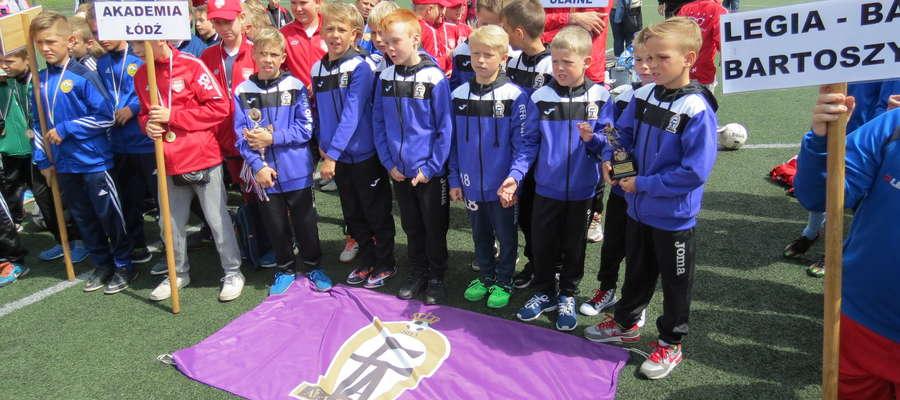 Drużyna AFA Olaine podczas wizyty w Bartoszycach z okazji turnieju Legia Bart