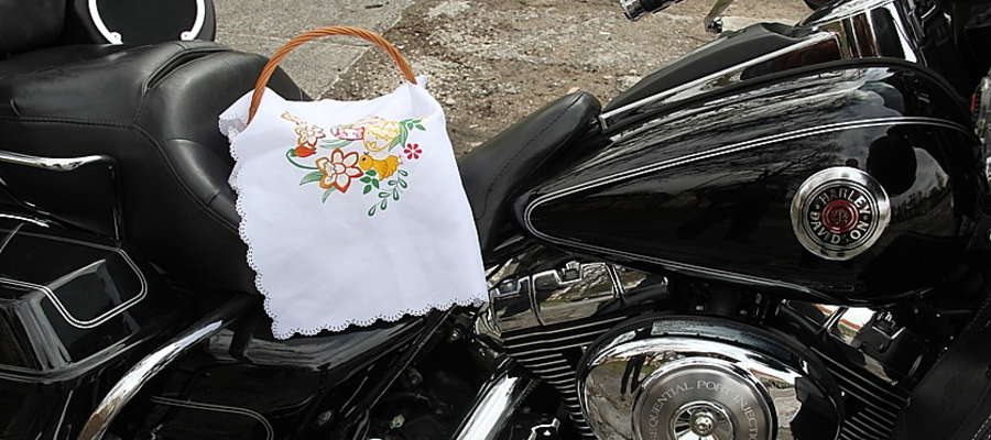 Harley Davidson i wielkanocne pisanki