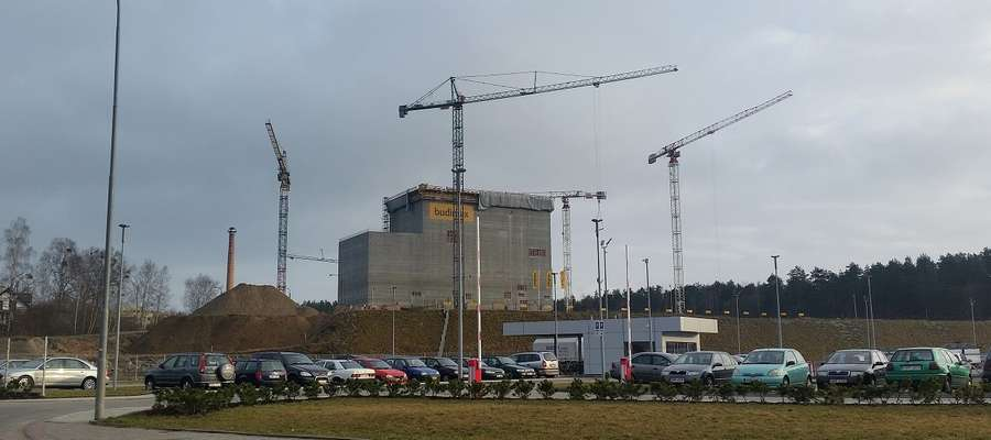 Budynek o powierzchni około 1600 m2 i wysokości 43,5 m stanął w sąsiedztwie ZPM Mrągowo.