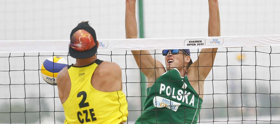 Maciej Rudol w trakcie meczu z Czechami