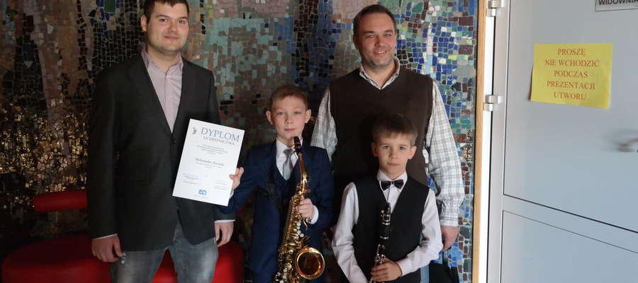 """Od lewej"""" Arkadiusz Krawiel, Aleksander Zaorski, Adam Zubowicz i  Zbigniew Sobociński"""