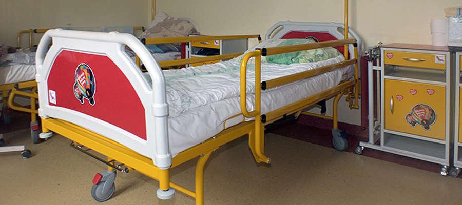 Na wyposażeniu szpitala sa m.in. nowe łóżka dziecięce...