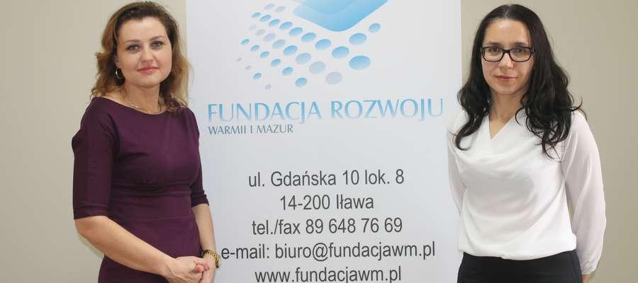 Joanna Długosz (z prawej) i Elżbieta Glegoła z Fundacji Rozwoju Warmii i Mazur w Iławie