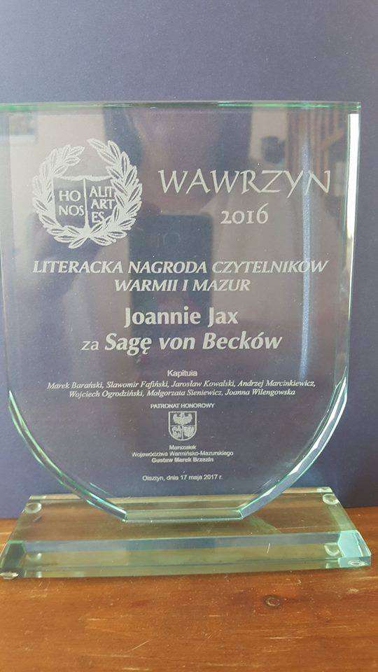 Spotkanie z Joanną Jax, laureatką Wawrzynu Czytelników 2016 - full image