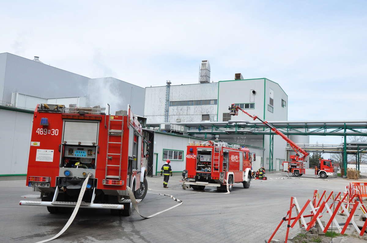Ćwiczenia strażaków z Polmleku