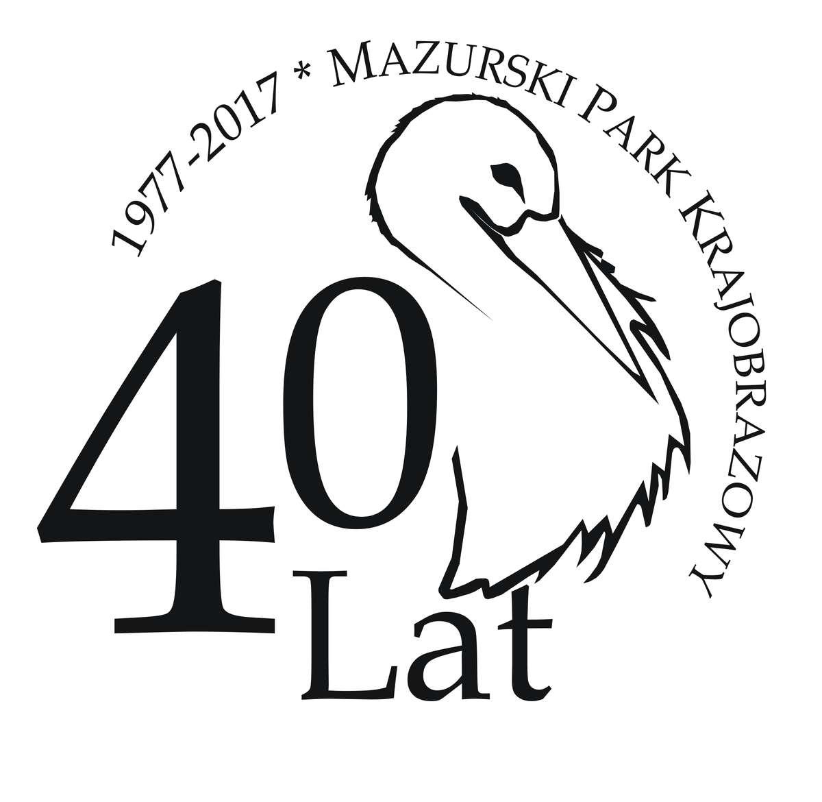 logo obchodów 40-lecia Mazurskiego Parku Krajobrazowego