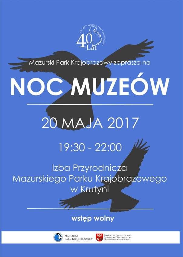 Noc Muzeów Mazurski Park Krajobrazowy plakat