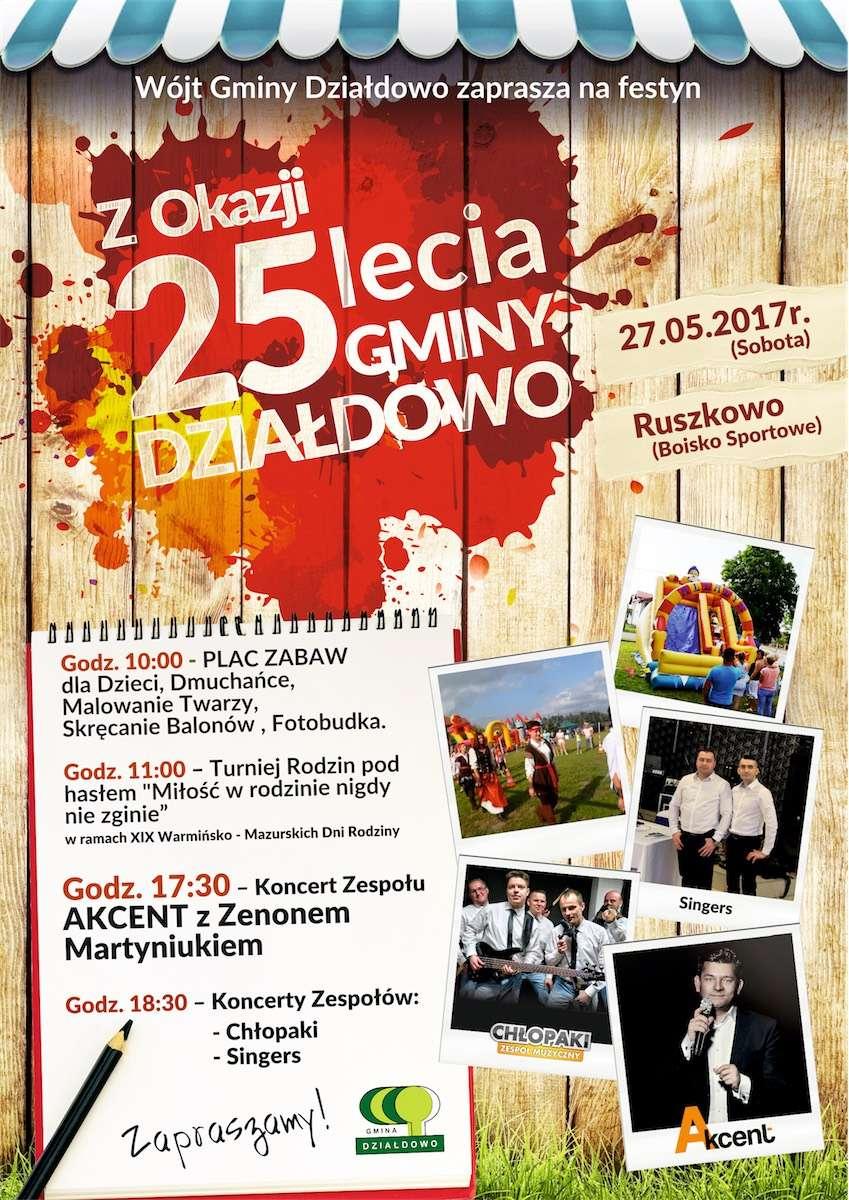 Zenek Martyniuk zaśpiewa z okazji 25 lecia Gminy Działdowo  - full image