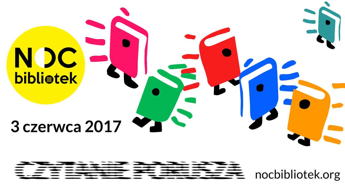 Znalezione obrazy dla zapytania plakat noc bibliotek 2017