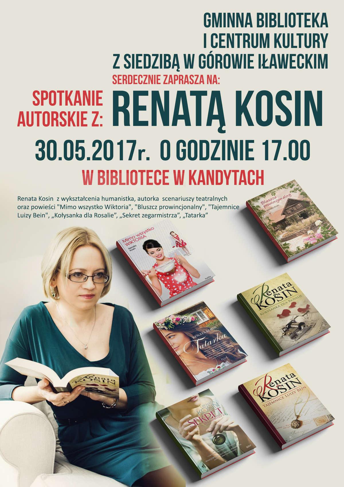 Spotkanie autorskie z Renatą Kosin  - full image