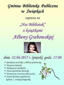 Noc Bibliotek z książkami Ałbeny Grabowskiej