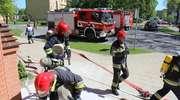 Strażacy gasili pozorowany pożar w sądzie