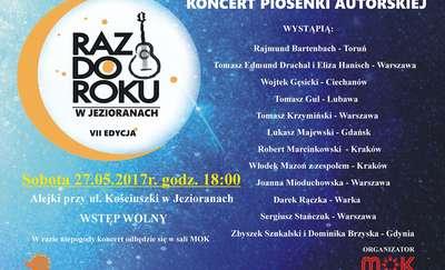 Raz do Roku w Jezioranach. Koncert piosenki autorskiej