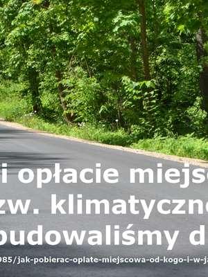 Gmina Giżycko: nowa droga dzięki opłacie klimatycznej