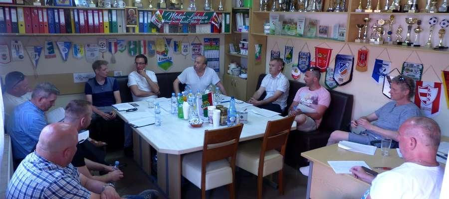 Poniedziałkowe spotkanie odbyło się w siedzibie MLKS Motor Lubawa