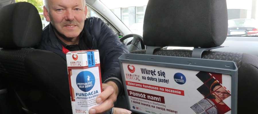 Kilometry Dobra - Sławomir Kałwianiec  Olsztyn - Korporacja taksówkowa Green Taxi uczestniczy w zbiórce pieniędzy zorganizowanej przez Fundację Przyszłość Dla Dzieci