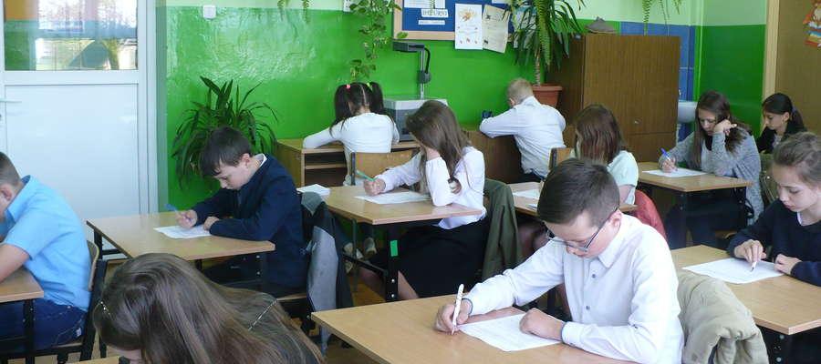 Podczas pisania testu wiedzowego