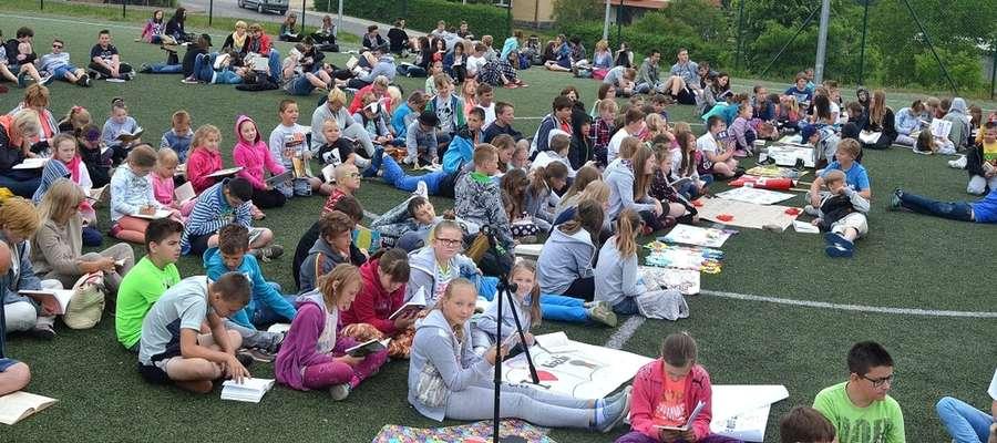 Pierwsza czytelnicza akcja w szkole w Wilkasach odbyła się w 2016 roku