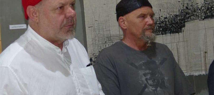 Kazimierz Kalkowski (z prawej) był już gościem Galerii Taras w Iławie. Na czwartkową wystawę zaprasza Wojciech Bogdan Bartkowski (z lewej), jej patron artystyczny i organizator