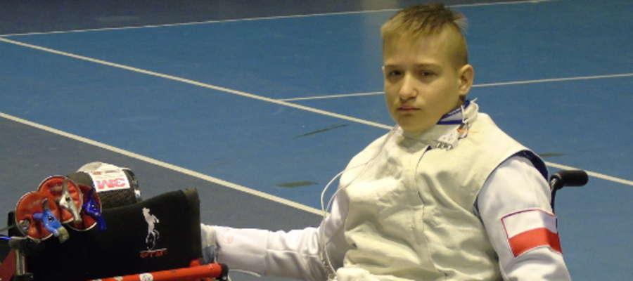15-letni Adam Gaszyk z Olsztyna startował w Holandii w Pucharze Świata w Szermierce na Wózkach