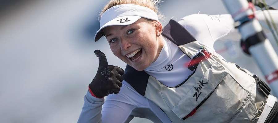 Iławianka Agata Barwińska może być zadowolona po regatach we Francji