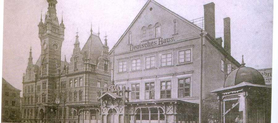 """Zajazd """"Deutsches Haus"""" ok. 1900 r"""