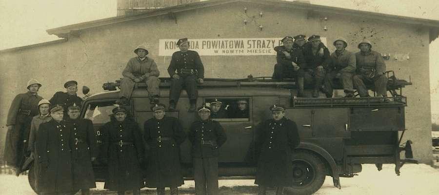 Nowomiejska Ochotnicza Straż Pożarna w zamierzchłych czasach już posiadała samochód pożarniczy