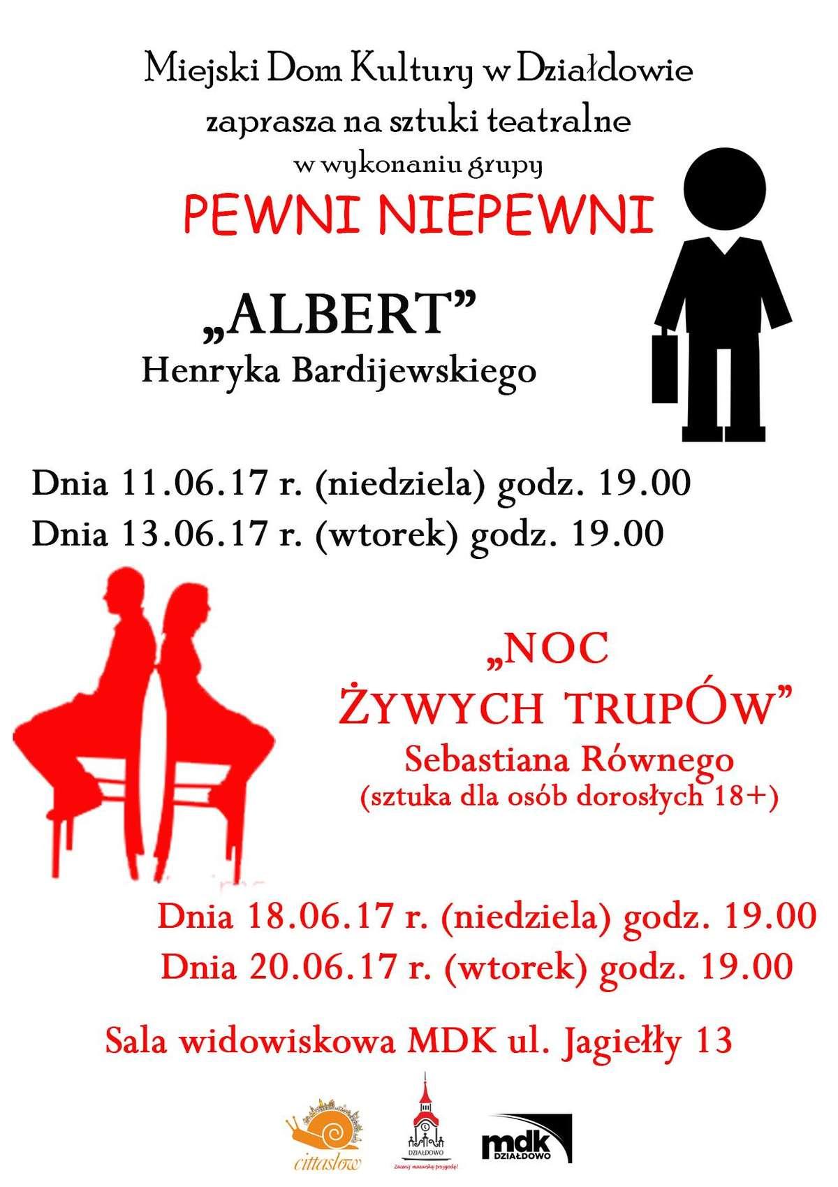 Albert i Noc żywych trupów - spektakle teatralne w MDK w Działdowie - full image