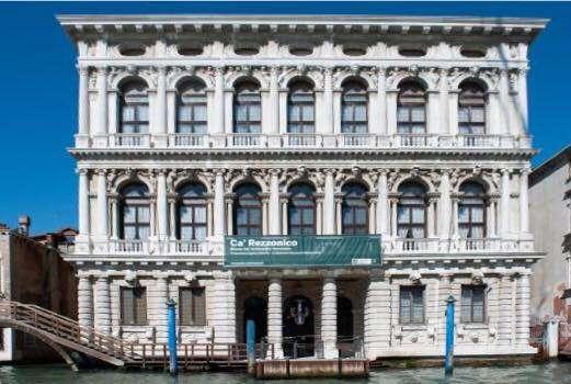 Fasada pałacu Ca' Rezzonico - full image