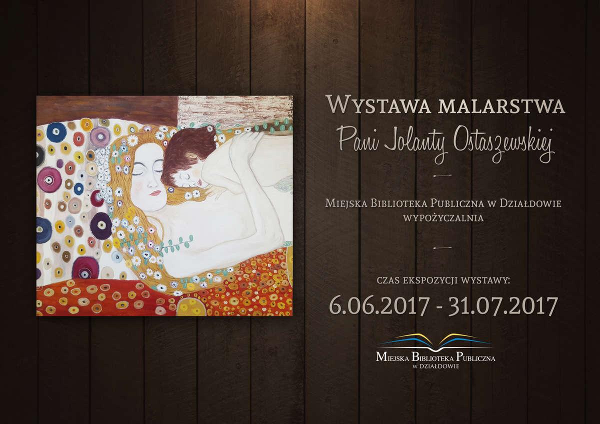 Artystyczna ekspozycja prac mieszkanki Działdowa. Wystawa malarstwa w bibliotece - full image