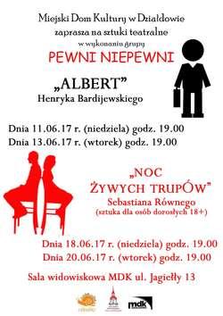Albert i Noc żywych trupów - spektakle teatralne w MDK w Działdowie