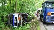 Wypadek cysterny z paliwem. Doszło do wycieku
