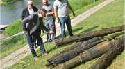 Mistrzowskie wydobycie pali z orneckiego jeziora