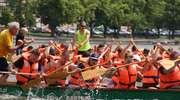 Smocze łodzie ścigały się na Jeziorze Ełckim