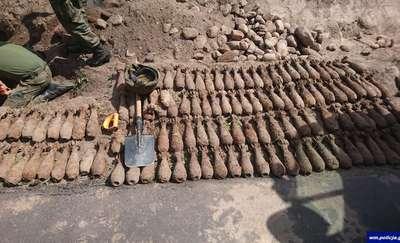 Około 200 pocisków moździerzowych przy drodze w Iłowie
