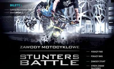 """Zawody motocyklowe """"Stunters Battle"""" w Galerii Warmińskiej!"""