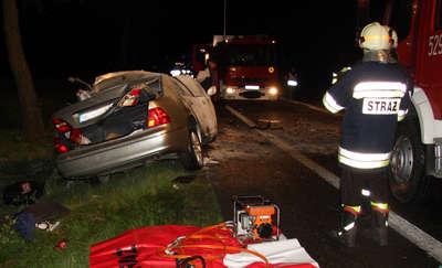 Tragiczny wypadek w Mdzewie, zginął 61- letni  kierowca