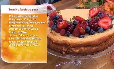 Bezglutenowe ciasto z czereśniami i biszkopt ze szpinakiem