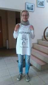 Elisabeth Schmidt, córka przedwojennego dziennikarza z Bisztynka podczas odwiedzin w CIT w Bisztynku.