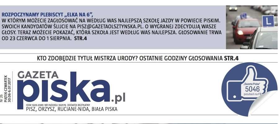 Nowa okładka Gazety Piskiej