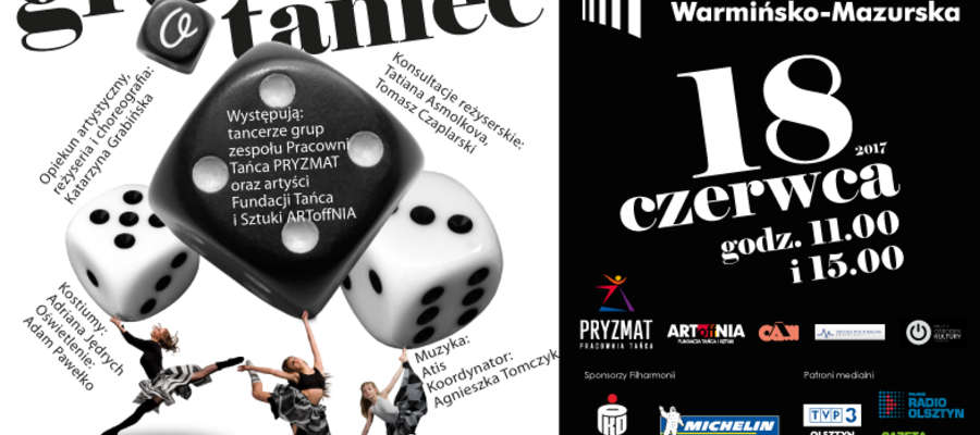 """""""GRA o taniec"""" w Filharmonii Warmińsko-Mazurskiej w Olsztynie"""