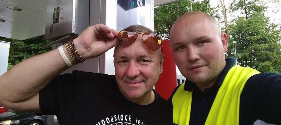 Jurek Owsiak i Krzysztof Krawczyk na pamiątkowym dla iławianina zdjęciu