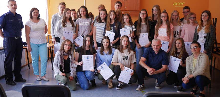 Grupa gimnazjalistów w ciągu trzech dni wzięła udział w kilku warsztatach, między innymi o tematyce profilaktycznej
