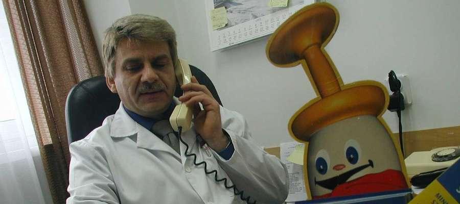 Marek Behan, epidemiolog z olsztyńskiego sanepidu