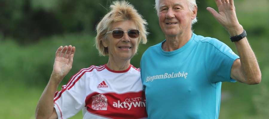 Wanda i Jan Ambrożko  Olsztyn - Wanda i Jan Ambrożko - małżeństwo biegaczy.