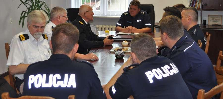 Spotkanie w KPP w Giżycku