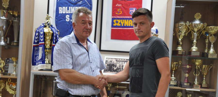 Andrzej Sobiech (prezes Jezioraka) i Łukasz Suchocki