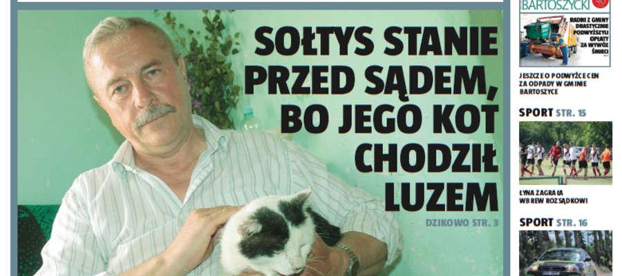 Sołtys na cenzurowanym za kota, prywatna inwestycja na gminnej drodze i inne ciekawe wiadomości