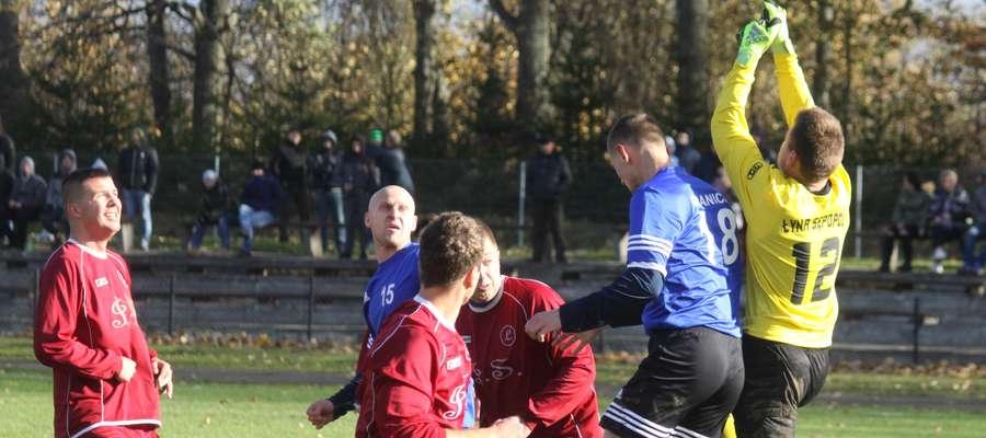 Na zdjęciu mecz Łyny z Granicą w Bezledach z rundy jesiennej
